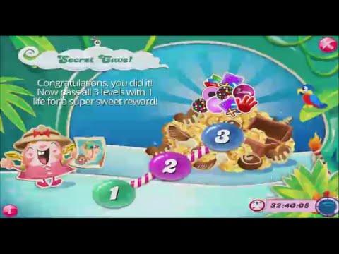 Candy Crush Saga The Secret Cave Levels 1, 2, & 3