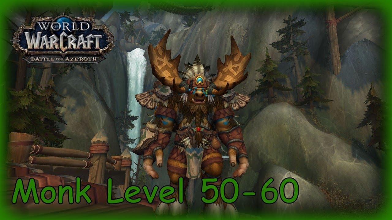 WOW BATTLE FOR AZEROTH GAMEPLAY PART 4 - HIGHMOUNTAIN TAUREN MONK LEVEL  50-60 PATCH 8 1 5 | MMORPG
