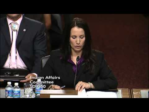 U.S. Senate Indian Affairs Hearing #3: Tracie Stevens Statement (07/26/2012) [4 of 22]