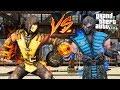 GTA V - Scorpion VS Subzero !!! MORTAL KOMBAT (GTA 5 Mods)
