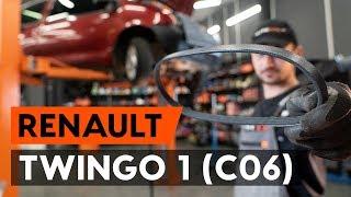 Instalace Klinovy zebrovany remen RENAULT TWINGO: video příručky