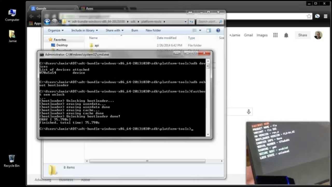 como instalar firmware con adb y fastboot
