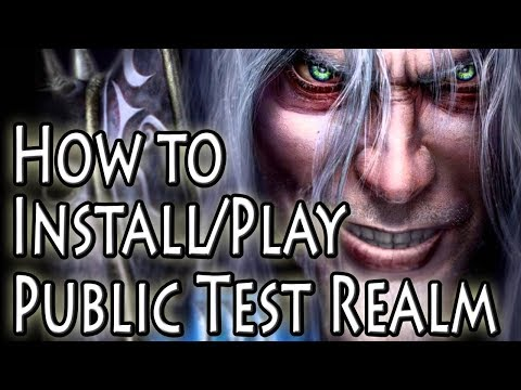 How To Play on the Warcraft 3 1.29 Public Test Realm