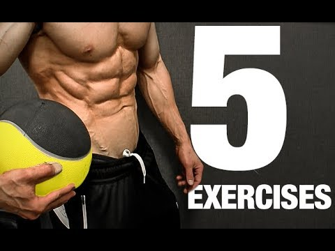 Med Ball Workout (5 MOVES TO A 6 PACK!)