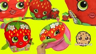 Shopkins Season 1 Strawberry Kiss Plush Secret Diary + Surprise Blind Bags - Cookieswirlc