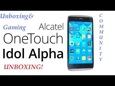 Alcatel One Touch Idol Alpha Unboxing (Serbian Commentary)