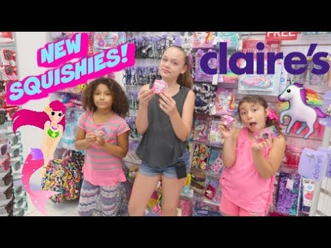 NEW SQUISHIES AT CLAIRE'S!!   CLAIRE'S SHOPPING VLOG AT THE MALL!