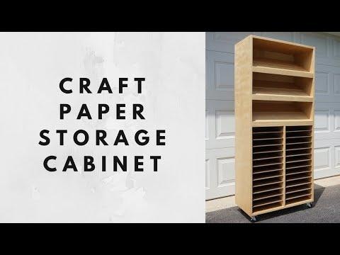 Craft Paper Storage Cabinet