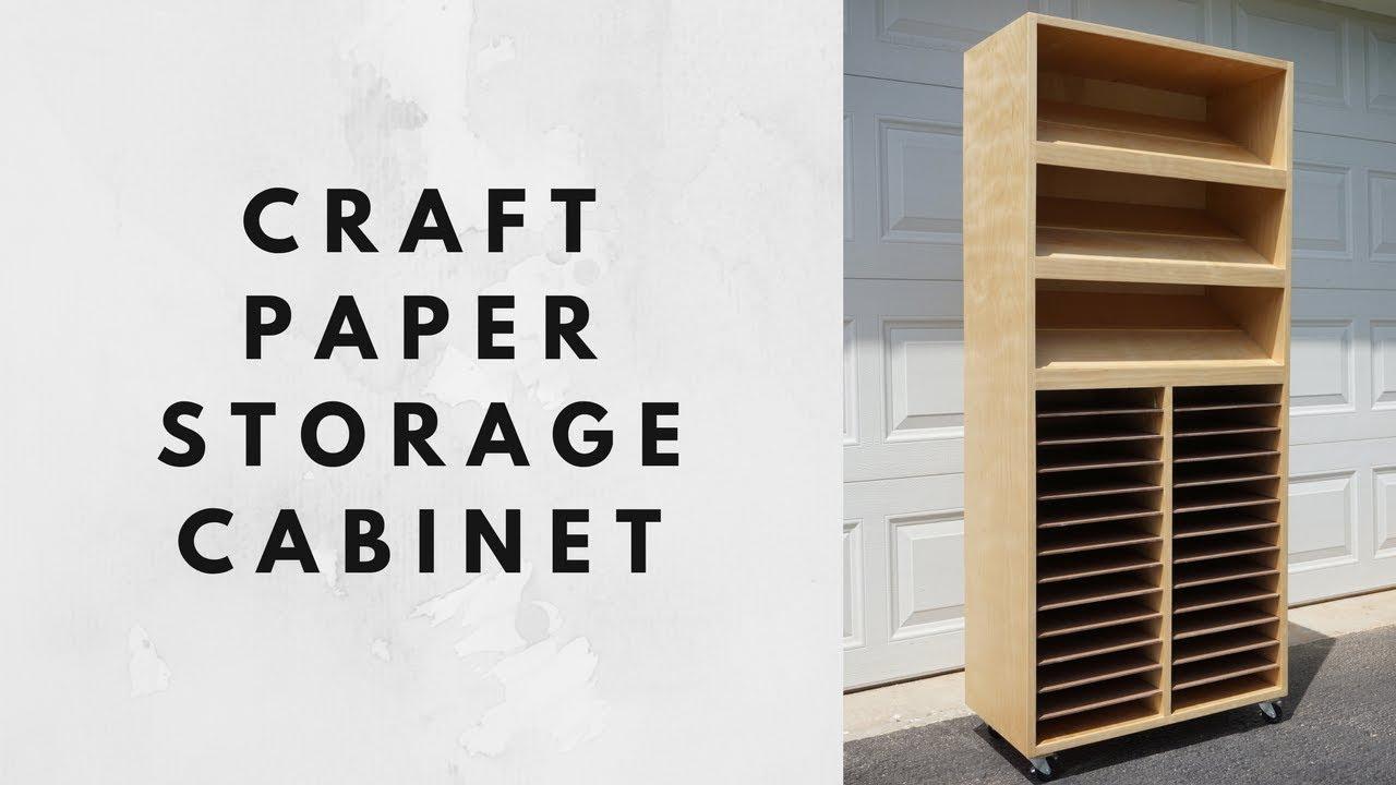 Craft Paper Storage Cabinet  sc 1 st  YouTube & Craft Paper Storage Cabinet - YouTube