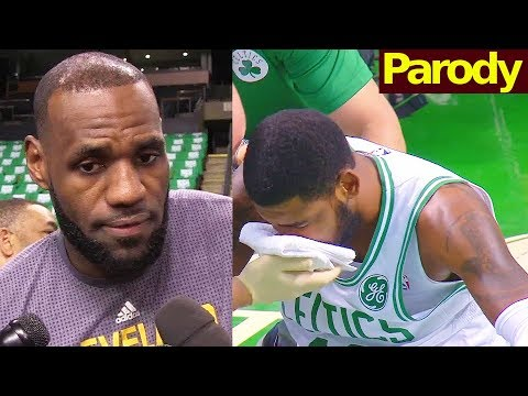 LeBron James reacts to Kyrie Irving Injury
