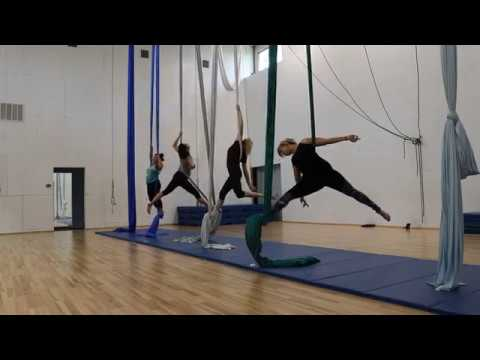 Beginner Aerial Silks Routine