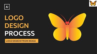 How To Design A Logo From An Image   Modern Butterfly Logo Design