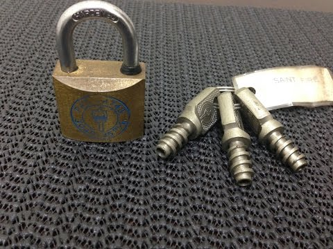 "[16] Saint Fire ""Corkscrew Key"" Lock!"