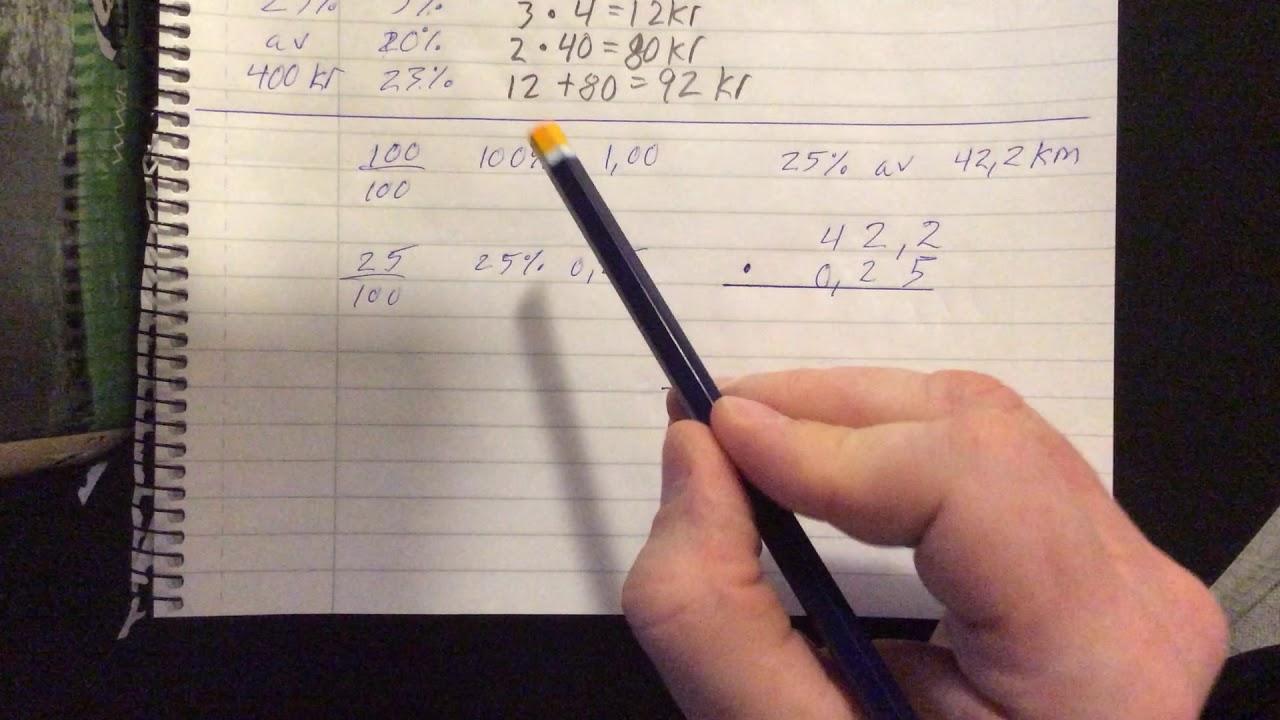 2 - Procent till kronor, kg,  m.m. - Träning och tips