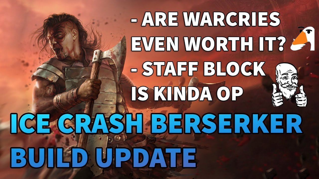 Ice Crash Berserker Update! - Warcry Scaling is Kinda Bad? - Path of Exile 3.11 Harvest