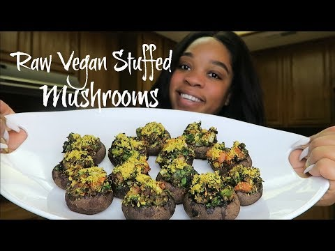 Day 30| Raw Vegan Challenge (Raw Vegan Stuffed Mushrooms) #Weightlossjourney