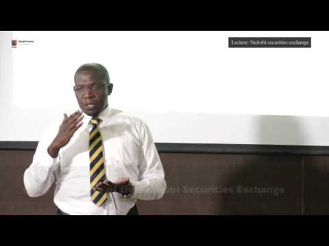 Lecture: A Close-up Look At How Nairobi Securities Exchange Operates With CEO - Geoffrey Odundo