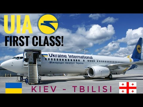 TRIPREPORT | UIA - Ukraine International Airlines (FIRST CLASS) | Boeing 737-800 | Kiev - Tbilisi