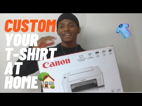 How to make your own custom designed T-shirt at home TUTORIAL!