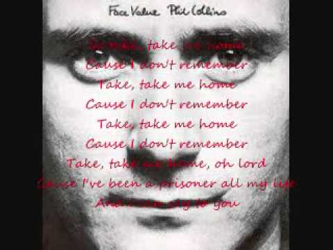 Phil Collins-Take Me Home (Lyric Video)