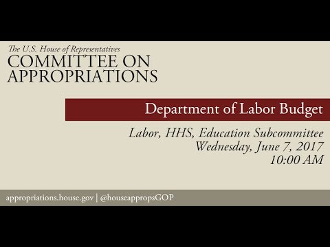 Hearing: Department of Labor Budget (EventID=106053)
