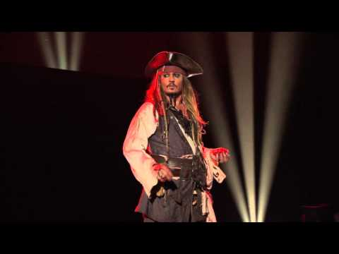 Johnny Depp as Captain Jack Sparrow at the Disney D23 Expo 2015