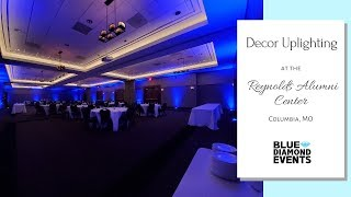 Decor Uplighting at the Reynolds Alumni Center | Blue Diamond Events, LLC