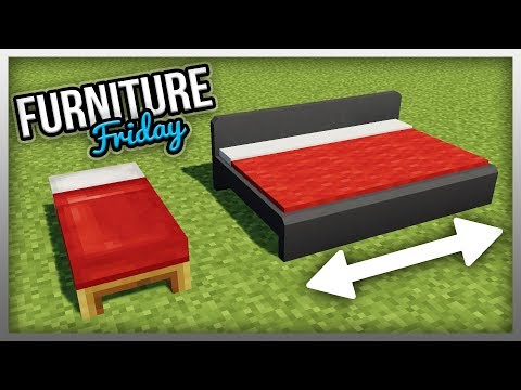 ✔️ Working EXPANDABLE BEDS In Minecraft! (Furniture Fridays)