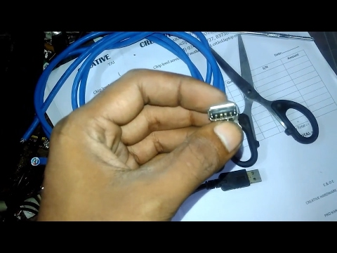 How To Make A Long Usb Extention Cable At Your Home Using Cat6 Cable