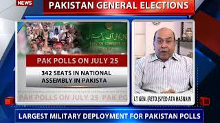 Lt Gen. (Retd) Syed Ata Hasnain speaks to DD News on Pakistan elections