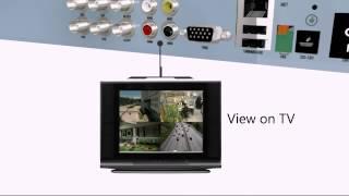 4 CH H.264 DVR Outdoor Surveillance Camera System
