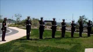 Military Honors Ceremony - Marine Gun Salute/Flag Presentation