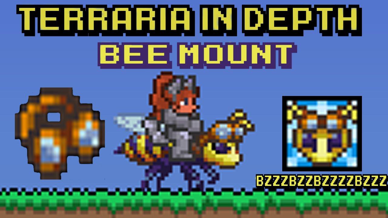 Terraria In Depth Bee Mount Honeyed Goggles Youtube