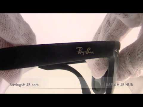 401eac54624 RAY BAN LITEFORCE WAYFARER SUNGLASSES RB4105 601S - YouTube