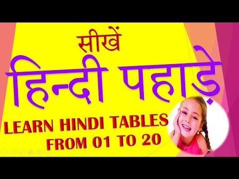 Learn Hindi Multiplication table