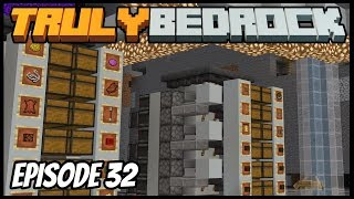 Mega Multi Item Storage System Is Done! - Truly Bedrock (Minecraft Survival Let's Play) Episode 32