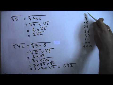 Méthode de simplification de racines carrées - Partie 1