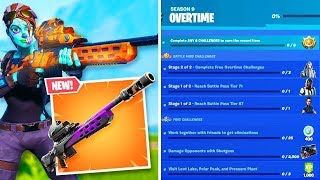 NEW OVERTIME CHALLENGES REWARDS IN FORTNITE! NEW STORM SCOUT SNIPER GAMEPLAY! (New Fortnite Update)