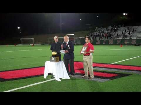 Skoronski Family receives Super Bowl Golden Football to honor Prep