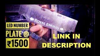 Cheap Royal Enfield L.E.D Number Plates | Fakhrunddin & Co. | Shopping