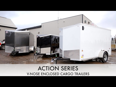 Action Series V-Nose Enclosed Cargo Trailers