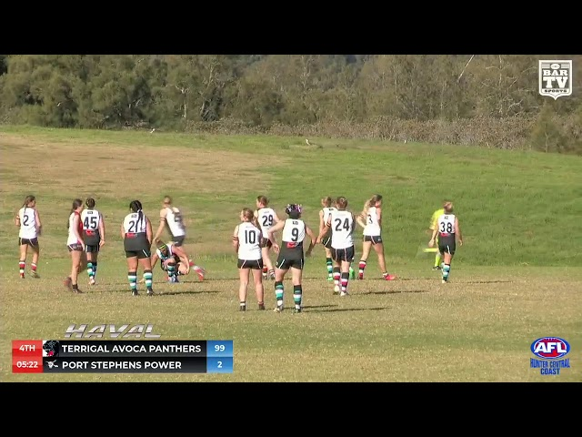 2019 HCCAFL Black Diamond Women's Round 9 Highlights - Terrigal Avoca Panthers v Port Stephens Powe