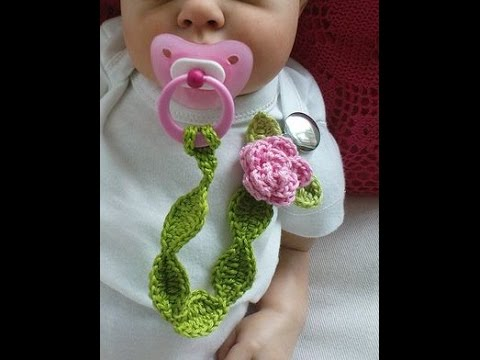 Colorful Crochet Pacifier Clip Holder Design For Baby Youtube