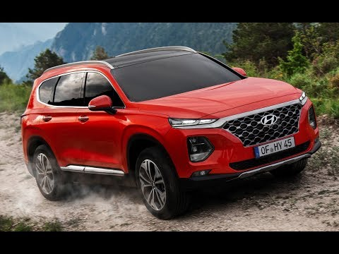 2019 Hyundai Santa Fe On Off Road driving Interior Exterior