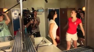 Съёмки сериала корабль. Драка Вики и Ирины.