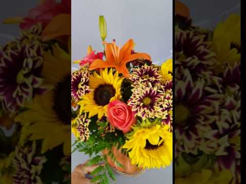 Sunflower Floral Arrangement Exclusive Design By Pam's Posies Your Akron Florist