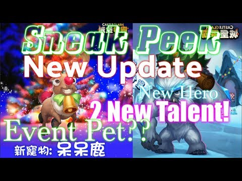 Sneak Peek New Update Event Pet?? 2 New Talents! Castle Clash