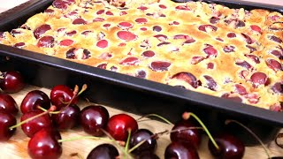 a fruit cake with cherries or sour cherries very fast