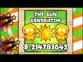 THE NEW SUN GENERATOR GOD TOWER MELTS EVERYTHING | Bloons TD Battles Hack/Mod (BTD Battles)