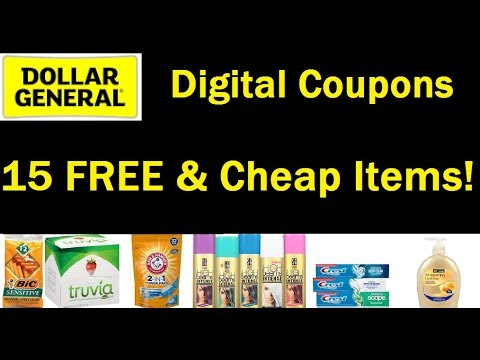 Free, Overage & Cheap w/ Digital Coupons at Dollar General This Week--10/22 to 10/28---$3/$15 & 2/10